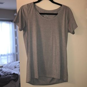 Nike gray dry fit short sleeve top
